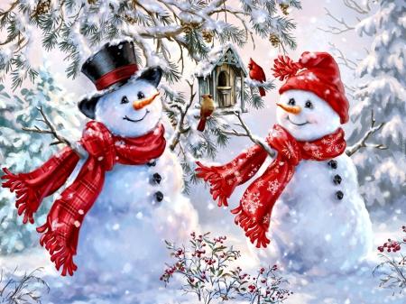 Zimowe zabawy muchomorków :)